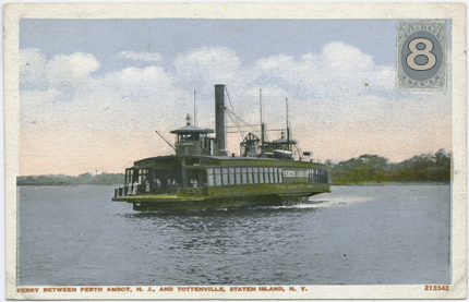 Tottenville Review Issue #8 (Ferry between Perth Amboy, NJ and Tottenville, Staten Island, NY)